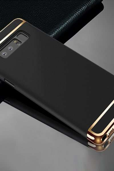 Luxury Armor Cover for Galaxy Note 8 - Black cover