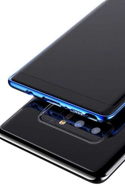 Plating clear Soft Transparent Cover for Galaxy Note 8 , electroplating