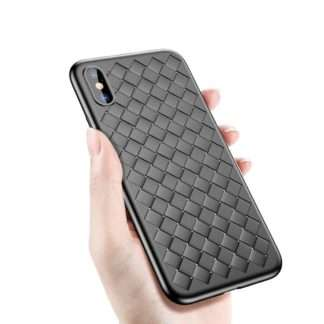 Luxury Weaving Cases For iPhone XS, XR, XS Max, Premium case Black