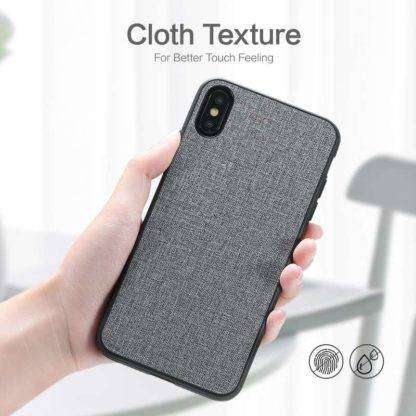 Anti-Fingerprint Cloth Texture Case For iPhone X, XS, XS MAX