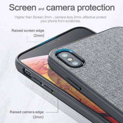 Screen & Camera Protective Fabric Texture Case For iPhone X, XS, XS MAX