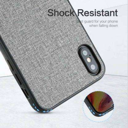 Shock Resistant Fabric Texture Case For iPhone X, XS, XS MAX