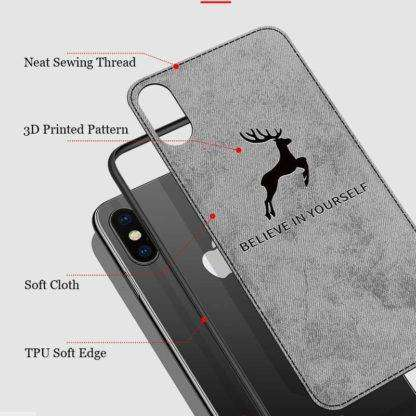 """Believe in Yourself"""" Soft Cloth iPhone Case"""