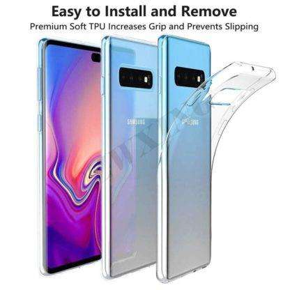 Easy to Install Transparent Cover For Samsung Galaxy S10