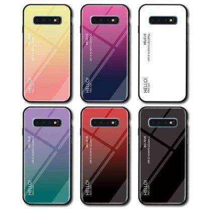 Gradient Glass Cover For Samsung Galaxy S10