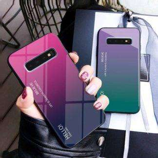 Gradient Glass Cover with Smooth Hand Holding For Samsung Galaxy S10, S10 Plus