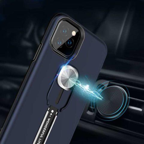 Blue Magnetic Car Bracket Case