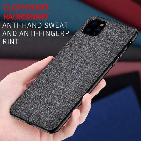 Black Soft Fabric Case