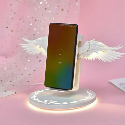 Angel Wings Night Light Wireless Charger